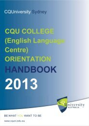 ELP College Handbook - Central Queensland University