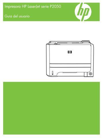 HP LaserJet P2050 Series Printer User Guide - ESWW