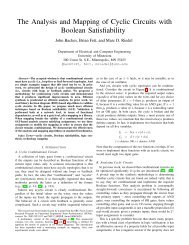 The Analysis and Mapping of Cyclic Circuits with Boolean Satisfiability