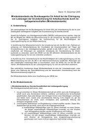 Mindeststandards Der Bundesagentur für Arbeit Bei Der Erbringung ...