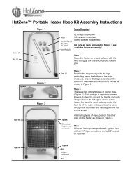 HotZone™ Portable Heater Hoop Kit Assembly Instructions