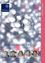 MChem Chemistry Prospectus - Admissions - University of Oxford