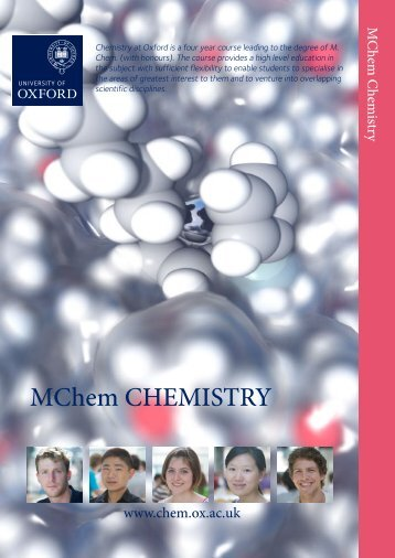 MChem Chemistry Prospectus - Admissions - University of Oxford