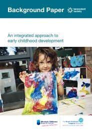 An integrated approach to early childhood development - The Royal ...