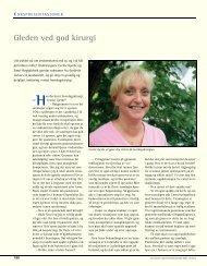 Gleden ved god kirurgi - Den norske tannlegeforenings Tidende