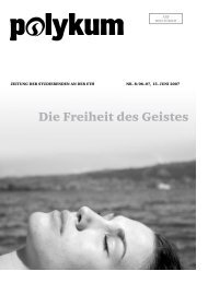 die Freiheit des geistes - VSETH - ETH Zürich