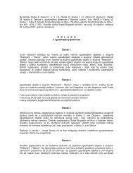 Odluku o ugostiteljskoj djelatnosti - Grad Biograd na Moru