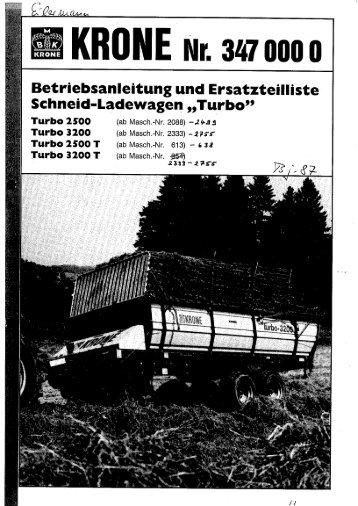 Betriebsanleitung und Ersatzteilliste - Agromix