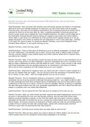 Marelle Thornton interview - ABC Radio - Cerebral Palsy Alliance