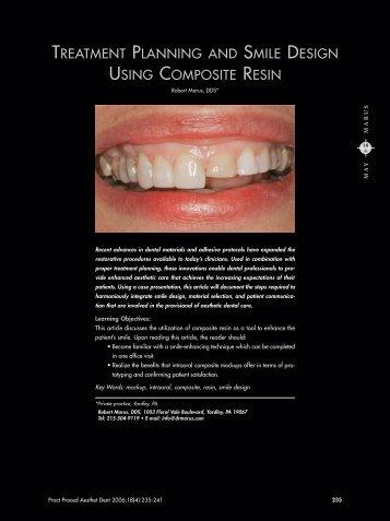 treatment planning and smile design using composite resin - Heraeus
