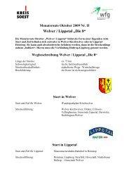 Wegbeschreibung Welver / Lippetal - Wirtschaftsförderung Kreis Soest
