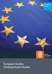 European Studies - Royal Holloway, University of London