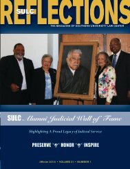 SULC Alumni Judicial Wall of Fame - Southern University Law Center