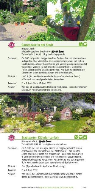 GarTenkalender 2012 - Wirtschaftsförderung Kreis Soest