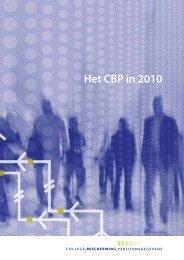 Jaarverslag 2010 - College bescherming persoonsgegevens
