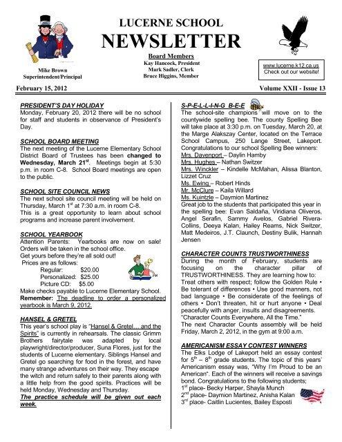 2-15-12 news pdf - Lucerne Elementary School