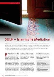 SULH – Islamische Mediation - büro für mediation freiburg