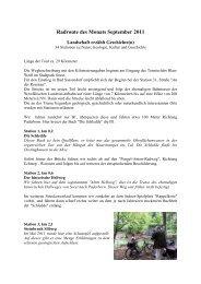 Radroute des Monats September 2011 - Wirtschaftsförderung Kreis ...