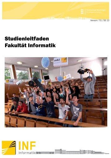 Studienleitfaden - Fakultät Informatik - Hochschule Reutlingen