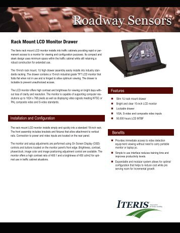 ITERIS Rack-Mount LCD Monitor Drawer - Temple, Inc.