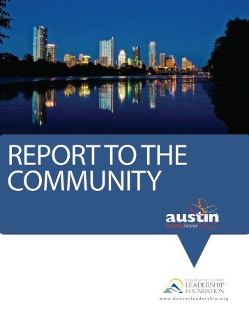 2012 Leadership Exchange Report to the Community