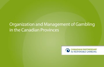 Organization and Management of Gambling in Canadian Provinces