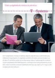 Üzleti szolgáltatások mérése és jelentése - T-Systems