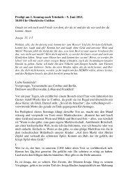 Festpredigt - Gustav-Adolf-Werk der Evangelischen Kirche Berlin ...