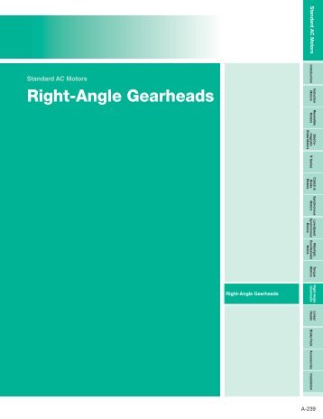Right-Angle Gearheads.indd - Oriental Motor