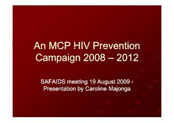 MCP HIV Prevention Campaign.pdf - SAfAIDS