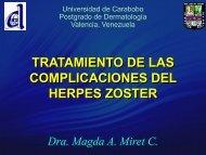 tratamiento de las complicaciones del herpes zoster - PIEL-L ...