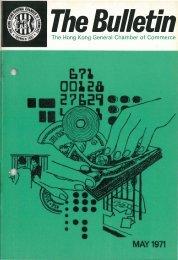 May 1971 - The Hong Kong General Chamber of Commerce