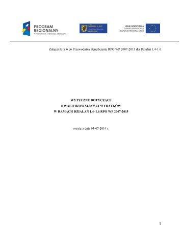1.6 RPO WP - Agencja Rozwoju Pomorza SA