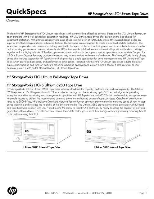 HP StorageWorks LTO Ultrium Tape Drives