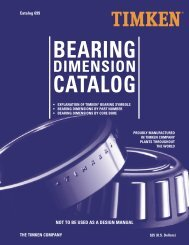 25) Timken Bearing Dimension Catalogue - R & M Bearings