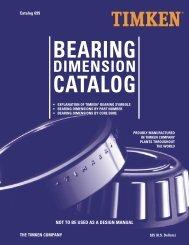 25) Timken Bearing Dimension Catalogue - R & M Bearings