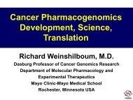Cancer Pharmacogenomics Development, Science, Translation