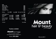 Mens CBW $25 Mens Clipper $15 - Mount Hair and Beauty Limited