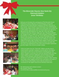 For more information about donating to the Jesus' Birthday ...