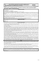 Conti correnti a condizioni particolari - Gruppo Banca Carige