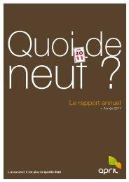 Le rapport annuel - April