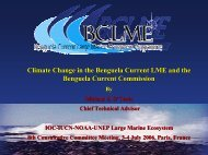 Climate Change in the Benguela Current LME and the Benguela ...