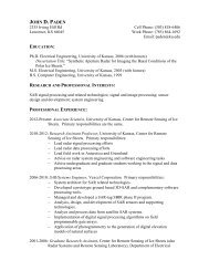Paden Resume - Center for Remote Sensing of Ice Sheets ...