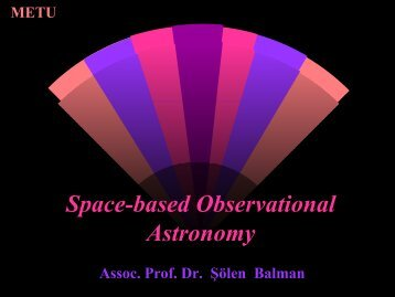 Space-based Observational Astronomy - Astrophysics Group