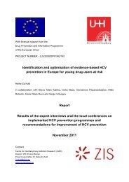 Identification and optimisation of evidence-based HCV prevention in ...