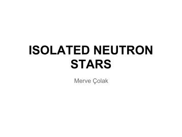 ISOLATED NEUTRON STARS