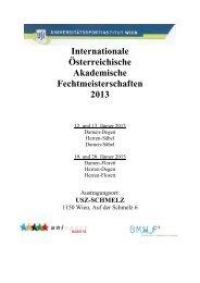 Internationale Österreichische Akademische Fechtmeisterschaften ...