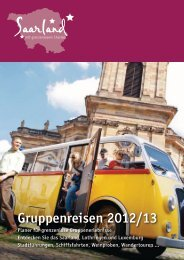 Vier Städte – drei Länder – ein Bett - Tourismus Zentrale Saarland