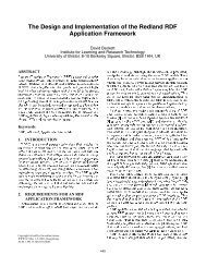 The Design and Implementation of the Redland RDF Application ...