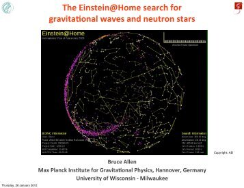 The Einstein@Home search for gravitaLonal waves and neutron stars
